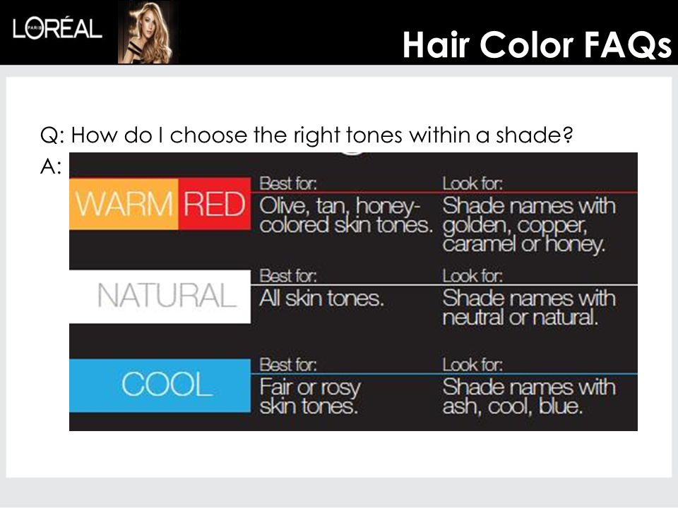 Q: How do I choose the right tones within a shade? A: Hair Color FAQs