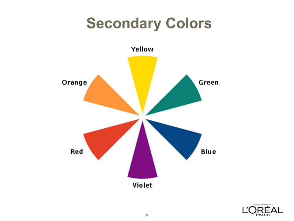 9 Secondary Colors