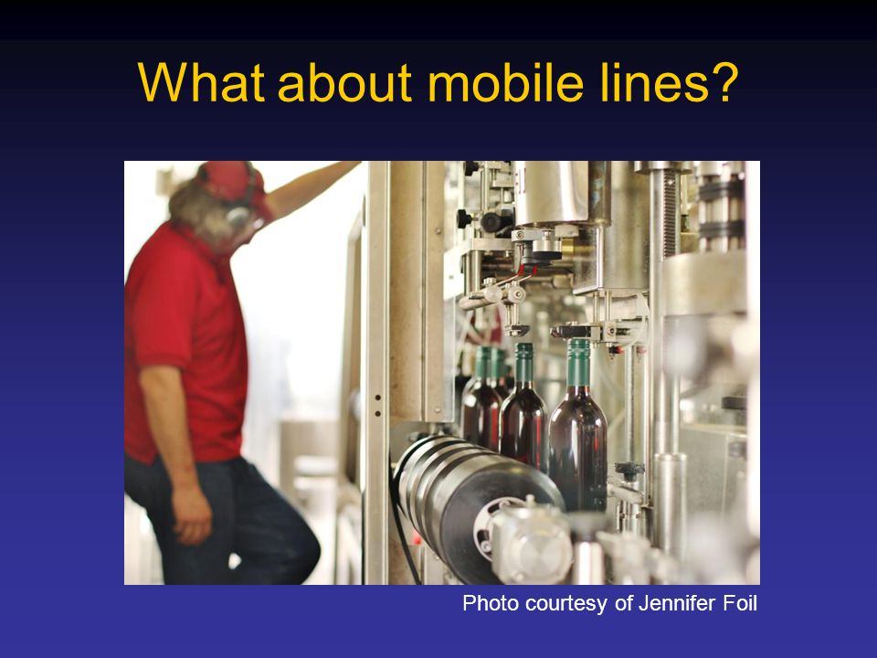 What about mobile lines? Photo courtesy of Jennifer Foil