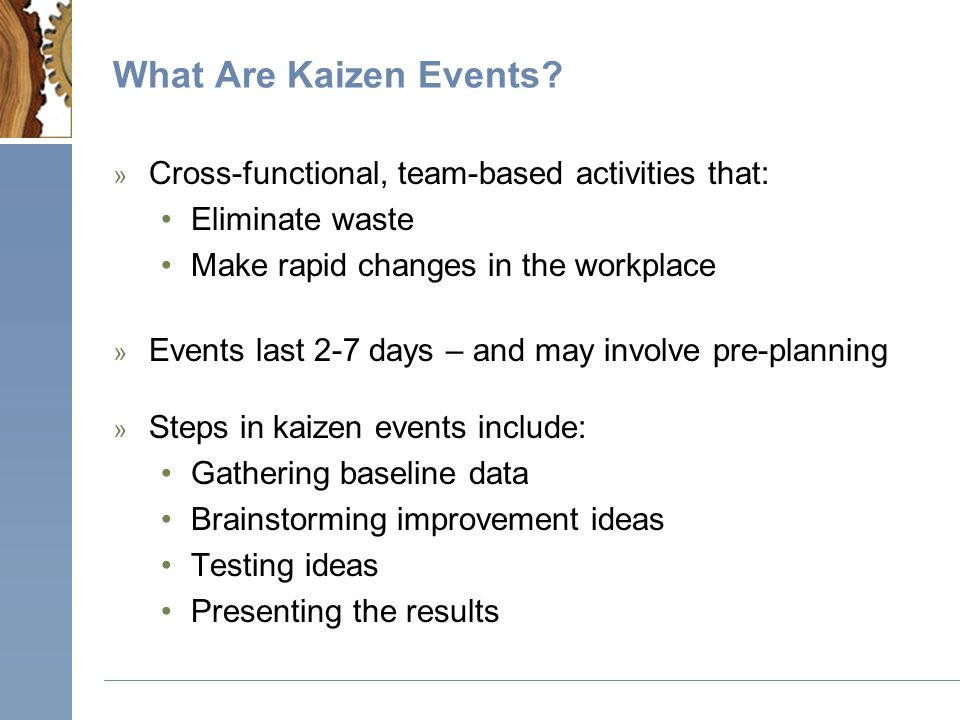 What Are Kaizen Events.