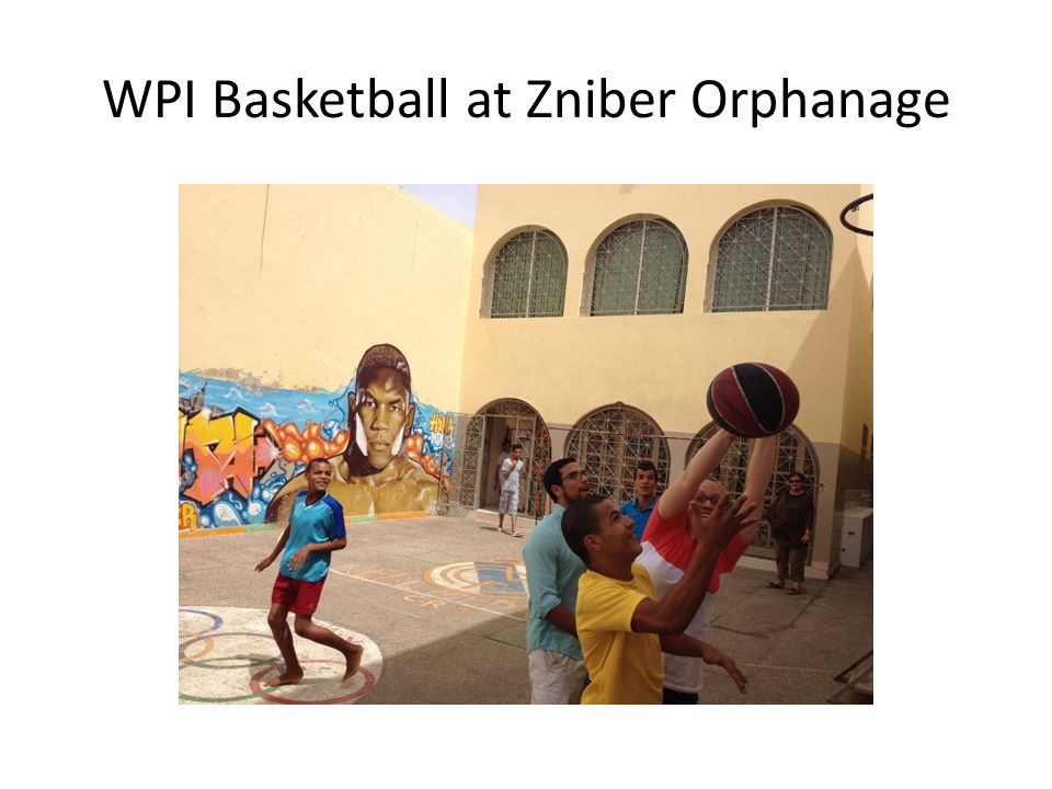 WPI Basketball at Zniber Orphanage