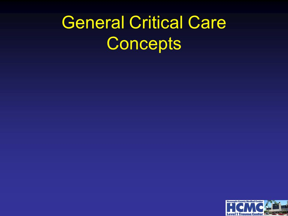General Critical Care Concepts