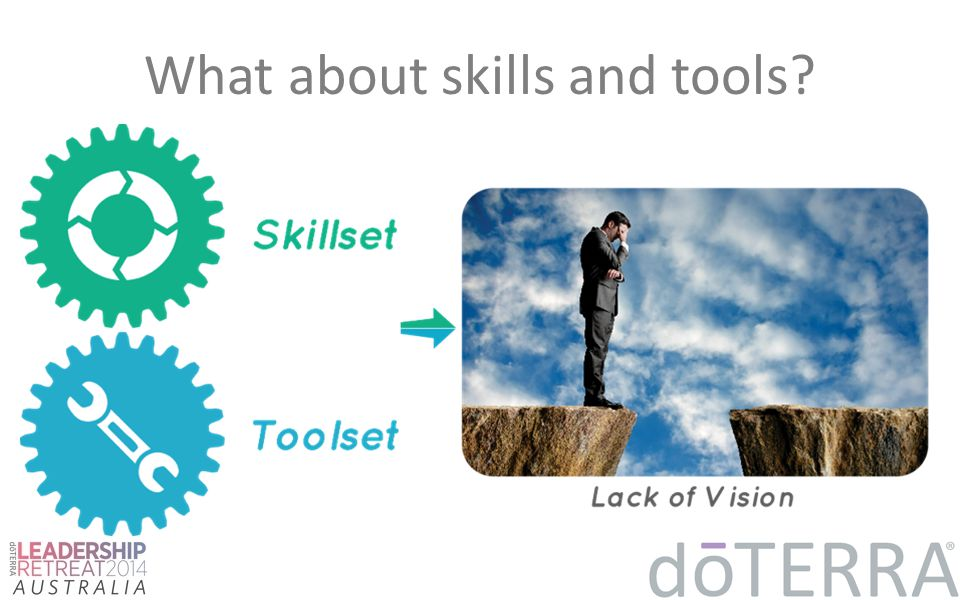 What about skills and tools?