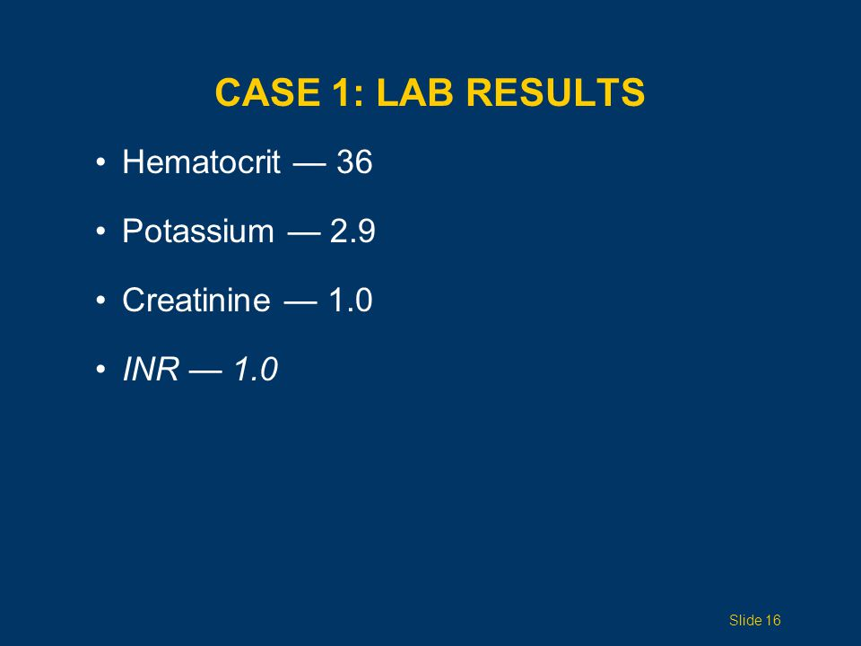 CASE 1: HOSPITAL COURSE Day 1 – Admitted to surgical ICU, L chest tube placed Day 2 – Rapid atrial fibrillation, amiodarone drip with conversion to sinus rhythm Day 5 – Chest tube pulled Day 7 – Hypoxic, hypotensive, rapid atrial fibrillation, left pleural effusion, intubated Day 8 – Left chest tube replaced Day 12 – Chest tube removed Day 22 – D/C to home 5 months later – Doing well Yellow trauma — 22-day hospital stay.