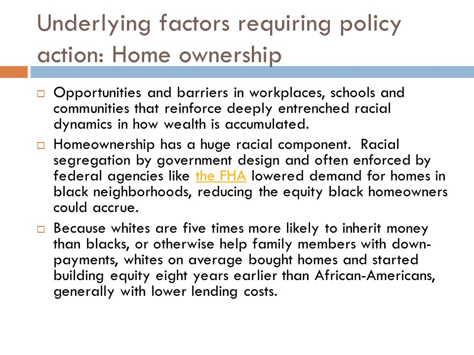 Underlying factors: education  Factors that should help everyone helped whites far more than blacks.