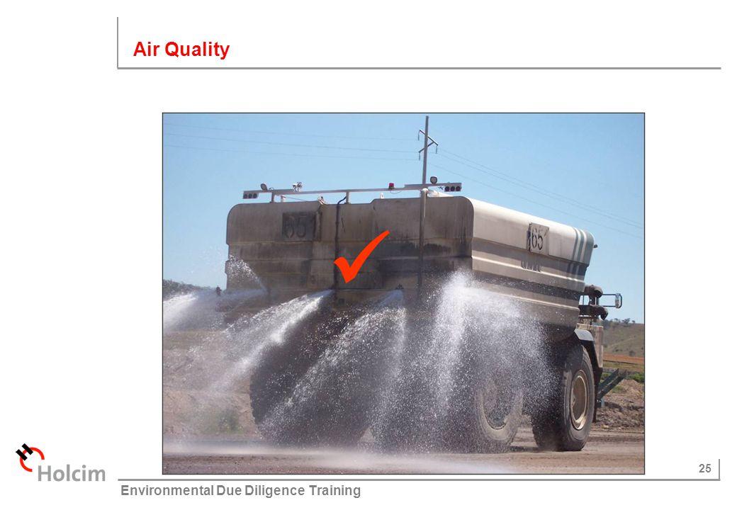 25 © Holcim (Australia) Pty Ltd Environmental Due Diligence Training Air Quality