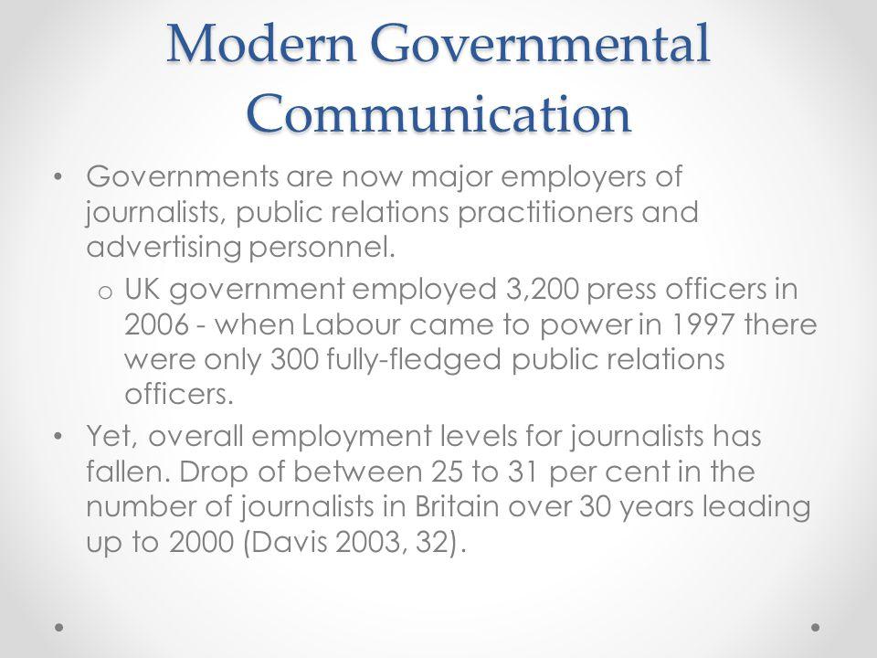 The PR State The PR state: o Media minders; o Media units (e.g.