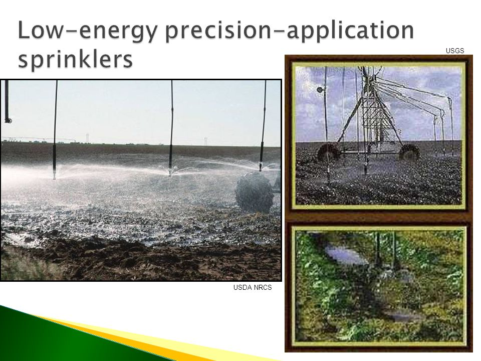 Low-energy precision-application sprinklers USDA NRCS USGS