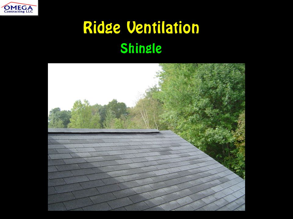 Ridge Ventilation Shingle