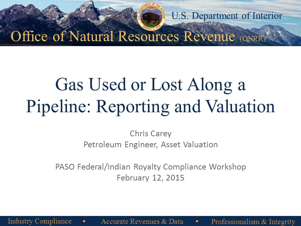 Office of Natural Resources Revenue 3 22 Arm's-Length Percent of Proceeds Sale