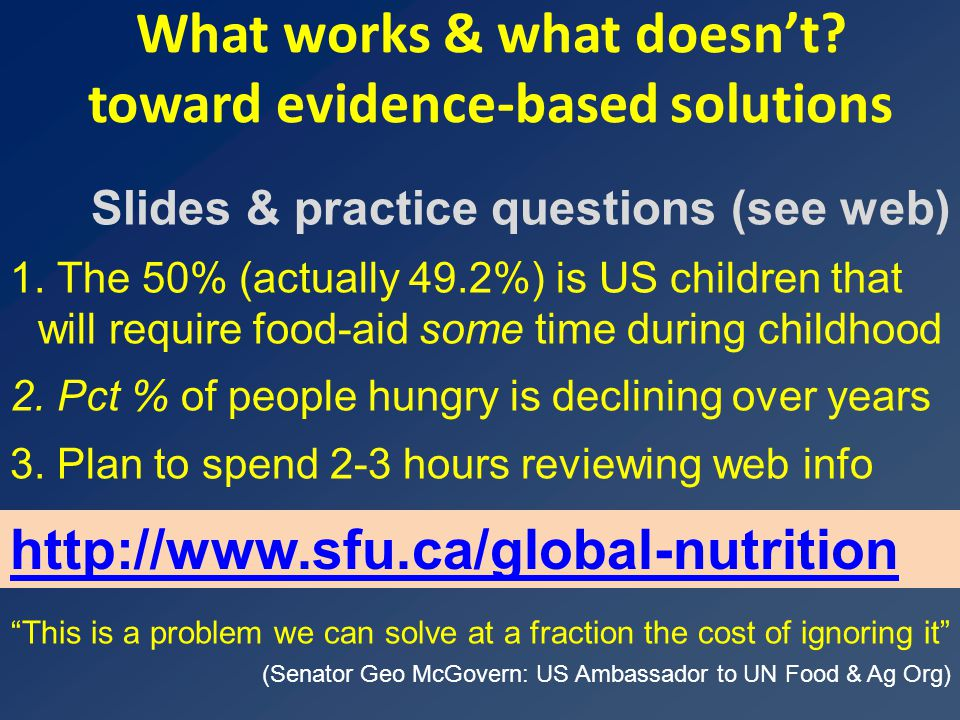A vicious cycle for malnutrition poverty, health, economic deprivation Page 3 Economics: Marginalization  inability to provide for self or family Access to the ladder of development Poverty  Diminished access to agricultural & food resources  malnutrition high birth rate Health: Physical & cognitive impairment, susceptibility to disease, early death  inability to earn an income nutrition