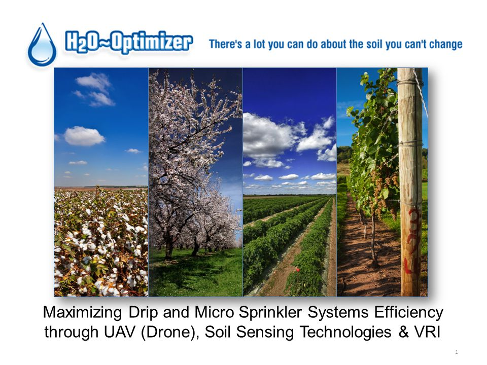 1 Maximizing Drip and Micro Sprinkler Systems Efficiency through UAV (Drone), Soil Sensing Technologies & VRI