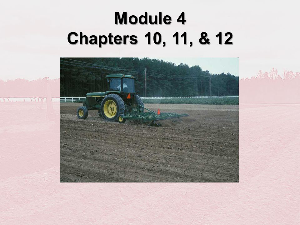 Module 4 Chapters 10, 11, & 12