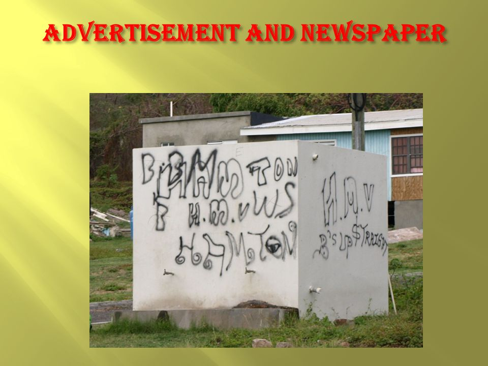 Advertisement and newspaper