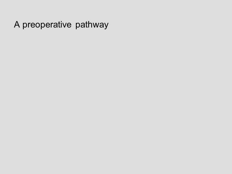 A preoperative pathway