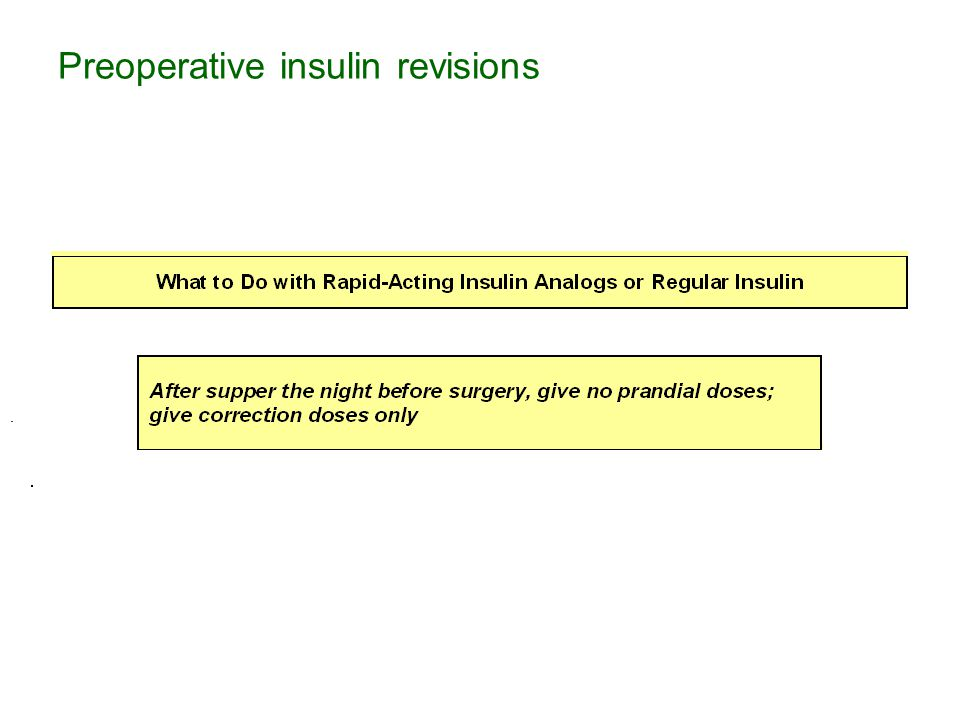.. Preoperative insulin revisions