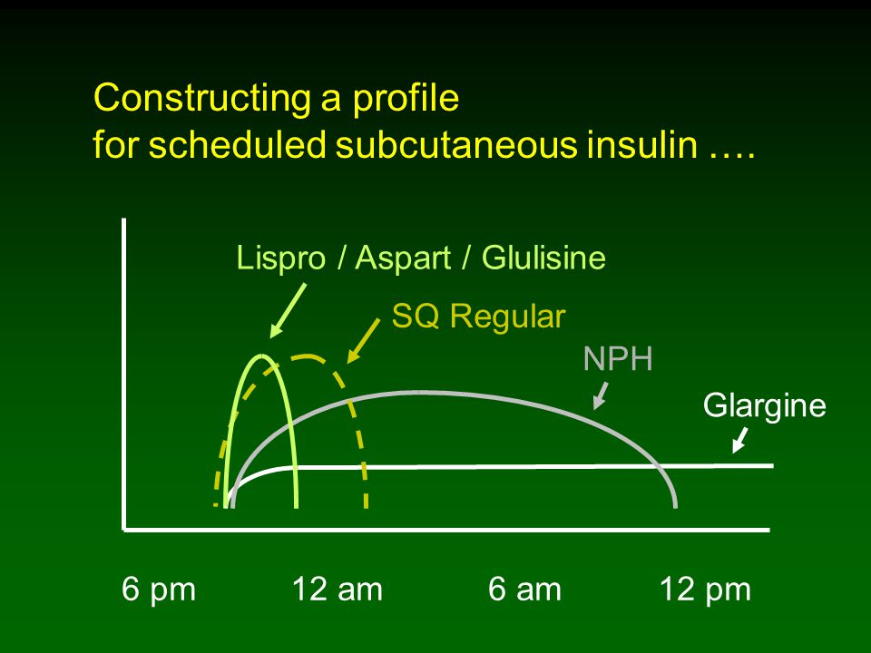 Constructing a profile for scheduled subcutaneous insulin ….
