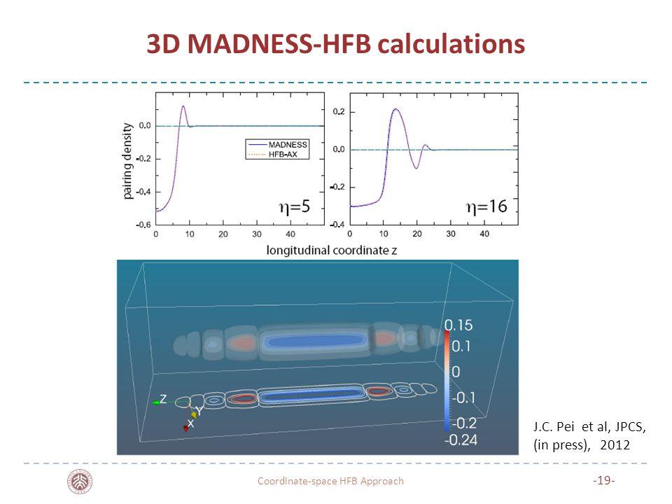 3D MADNESS-HFB calculations Coordinate-space HFB Approach -19- J.C. Pei et al, JPCS, (in press), 2012