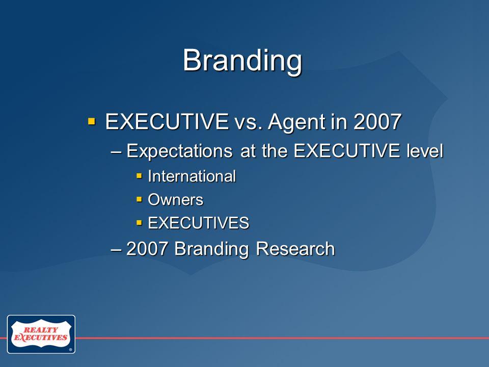 Branding  EXECUTIVE vs.