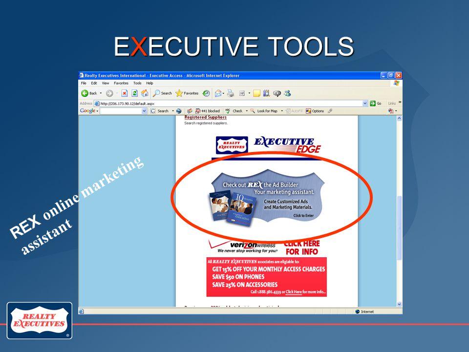 EXECUTIVE TOOLS REX online marketing assistant