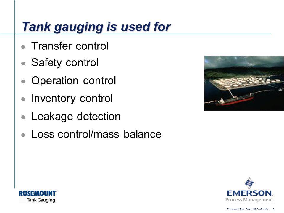 [File Name or Event] Emerson Confidential 27-Jun-01, Slide 30 Rosemount Tank Radar AB Confidential 30 Intelligent Upgrade solutions Gauge emulation Control room emulation