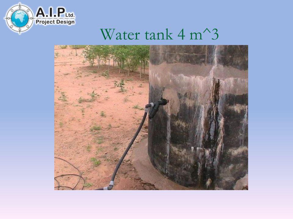 Water tank 4 m^3