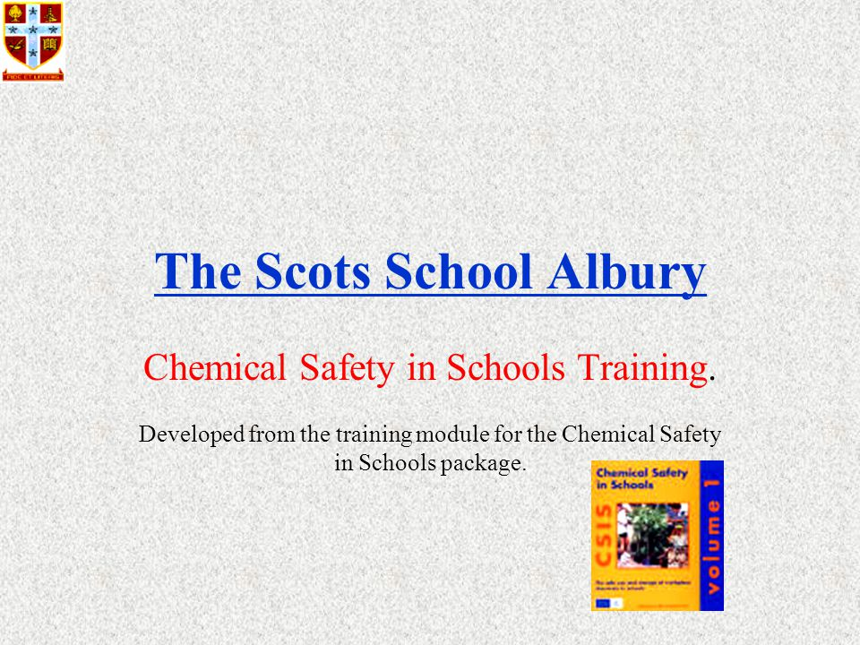 The Scots School Albury Chemical Safety in Schools Training.
