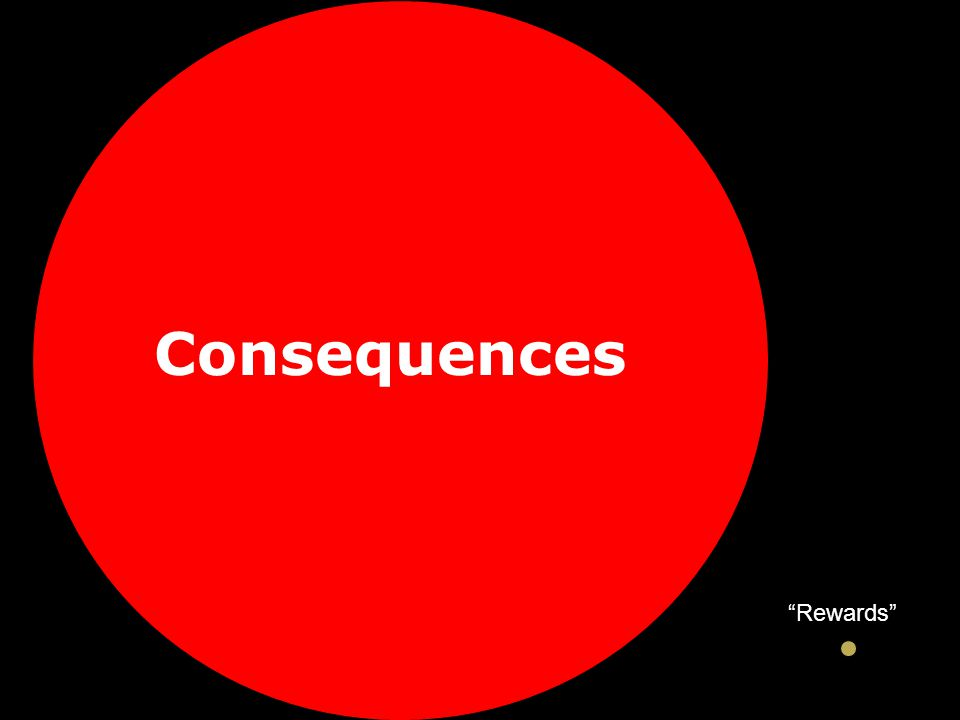 "Consequences ""Rewards"""