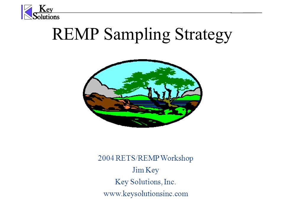 REMP Sampling Strategy 2004 RETS/REMP Workshop Jim Key Key Solutions, Inc. www.keysolutionsinc.com