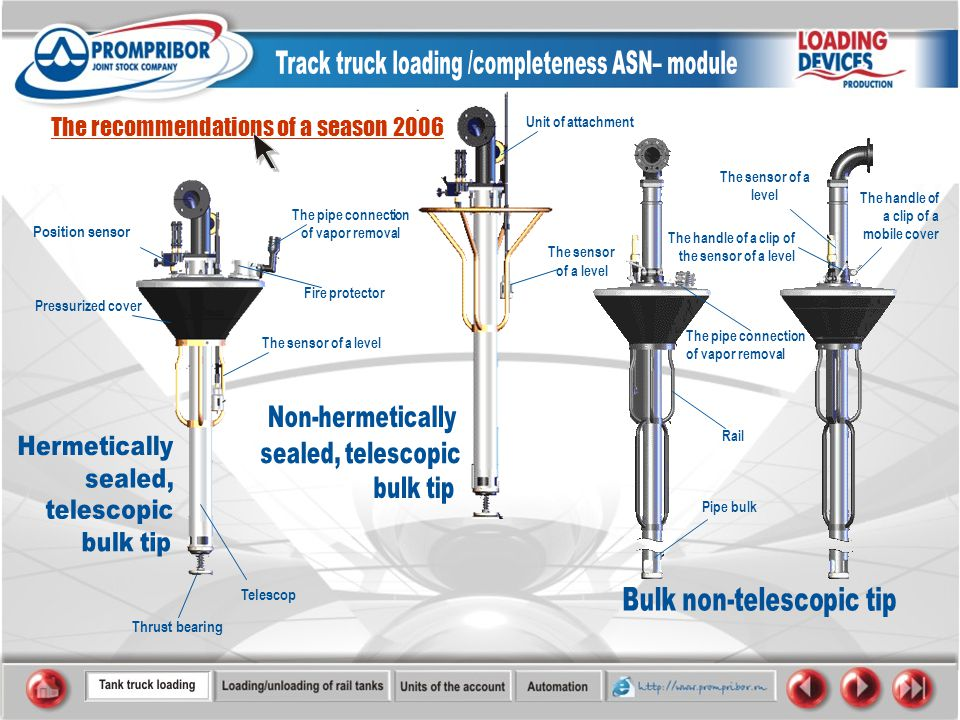 The recommendations of a season 2006 Fire protector Telescop Thrust bearing The sensor of a level The sensor of a level The pipe connection of vapor removal Pressurized cover Position sensor Unit of attachment Rail Pipe bulk The handle of a clip of the sensor of a level The handle of a clip of a mobile cover The sensor of a level The pipe connection of vapor removal