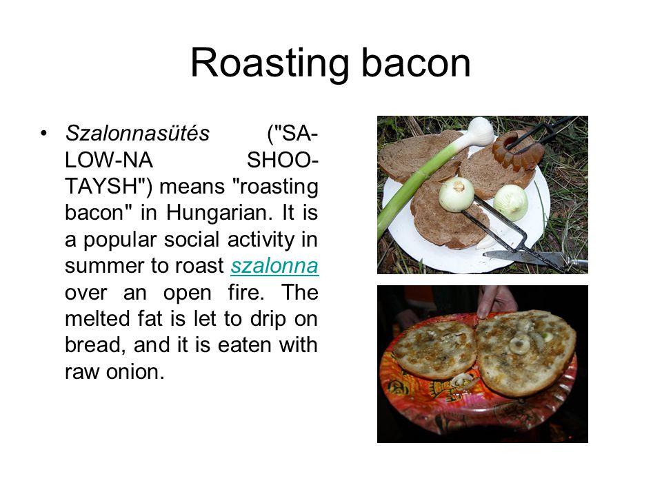 Roasting bacon Szalonnasütés (