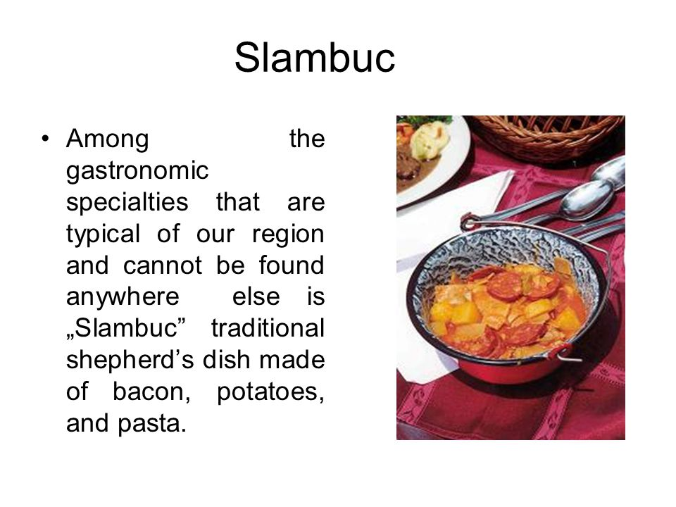 """Slambuc Among the gastronomic specialties that are typical of our region and cannot be found anywhere else is """"Slambuc"""" traditional shepherd's dish ma"""
