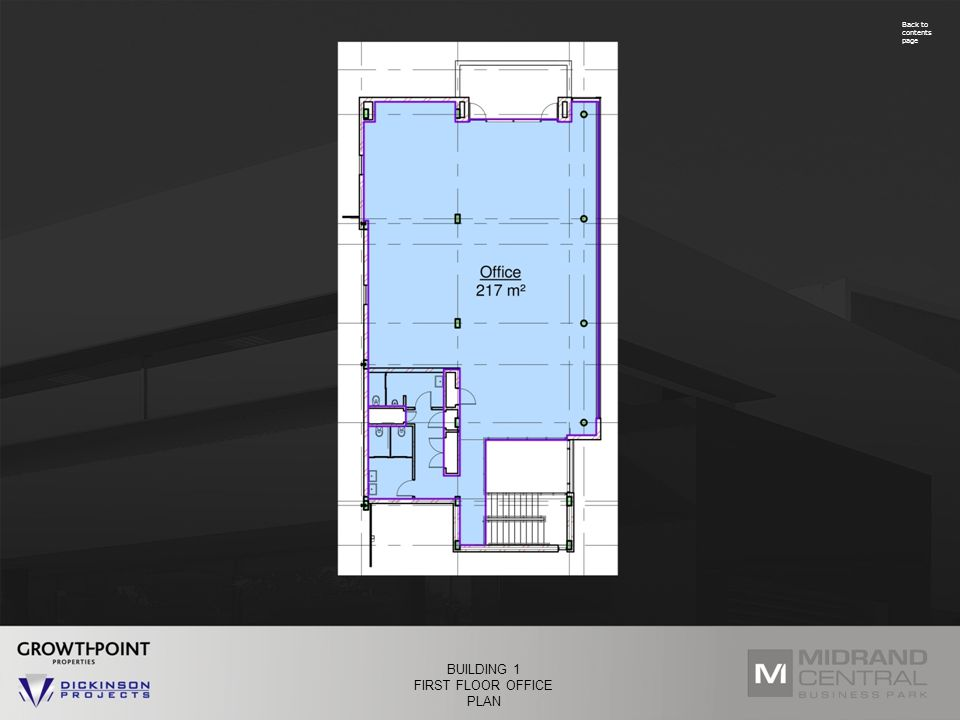Back to contents page BUILDING 1 FIRST FLOOR OFFICE PLAN