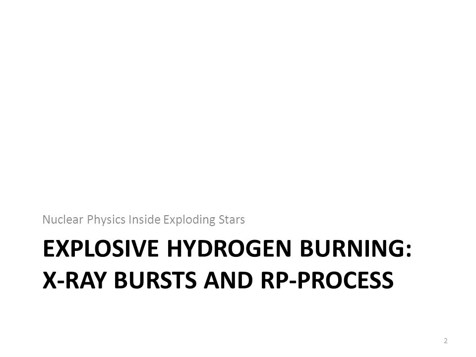 EXPLOSIVE HYDROGEN BURNING: X-RAY BURSTS AND RP-PROCESS Nuclear Physics Inside Exploding Stars 2