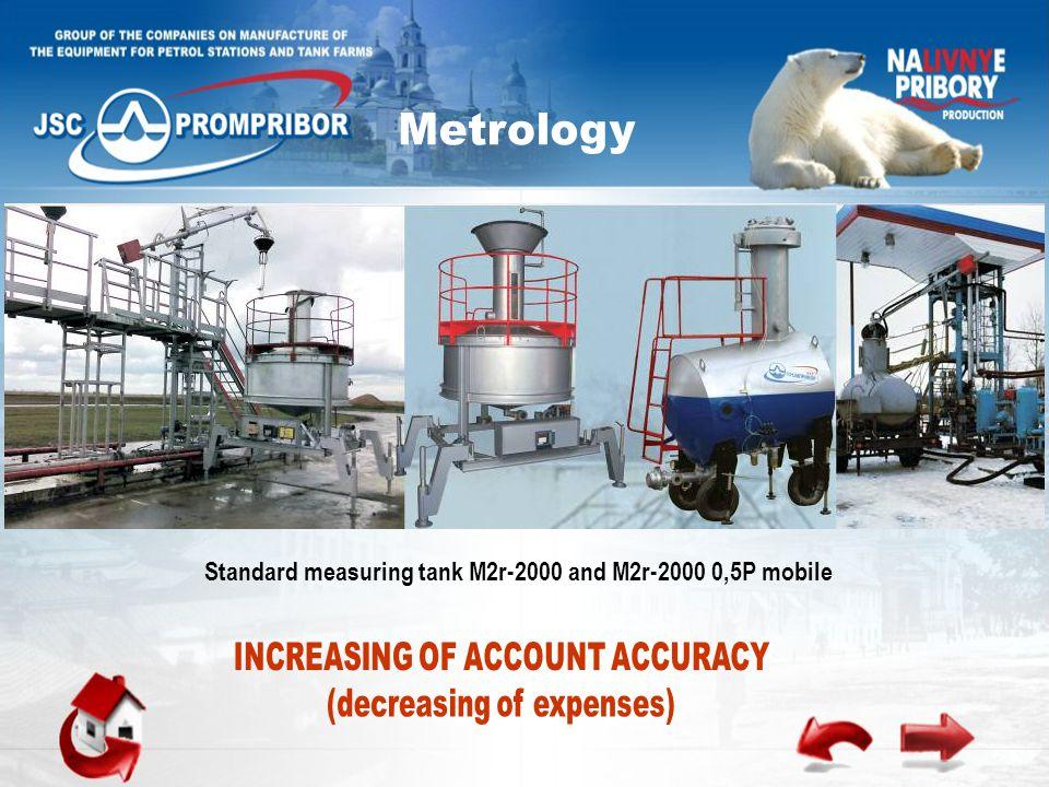 Standard measuring tank М2r-2000 and М2r-2000 0,5P mobile