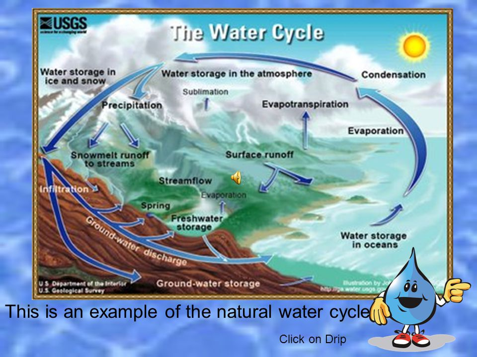 There is a natural way to help sanitize water called an aquifer.