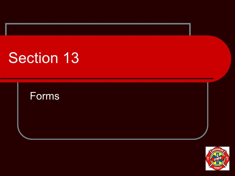 Section 13 Forms