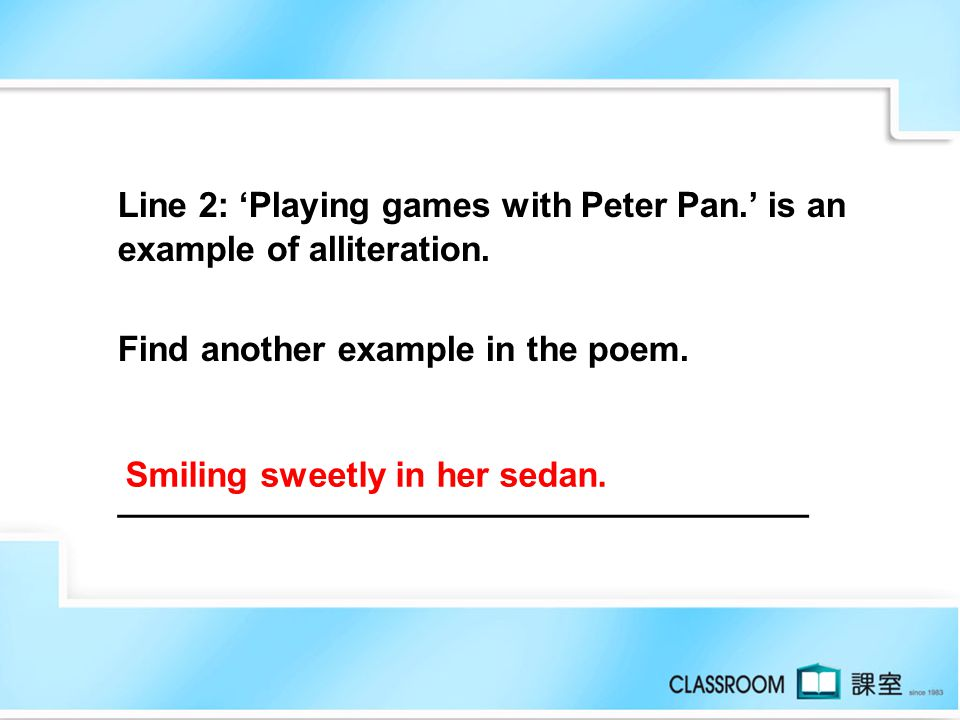 Read the poem and answer the question. Couch Potato In the morning I see a fairy Playing games with Peter Pan. In the afternoon I see a cook Frying sa