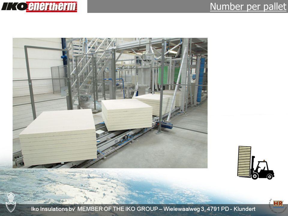 Iko Insulations bv MEMBER OF THE IKO GROUP – Wielewaalweg 3, 4791 PD - Klundert Product range