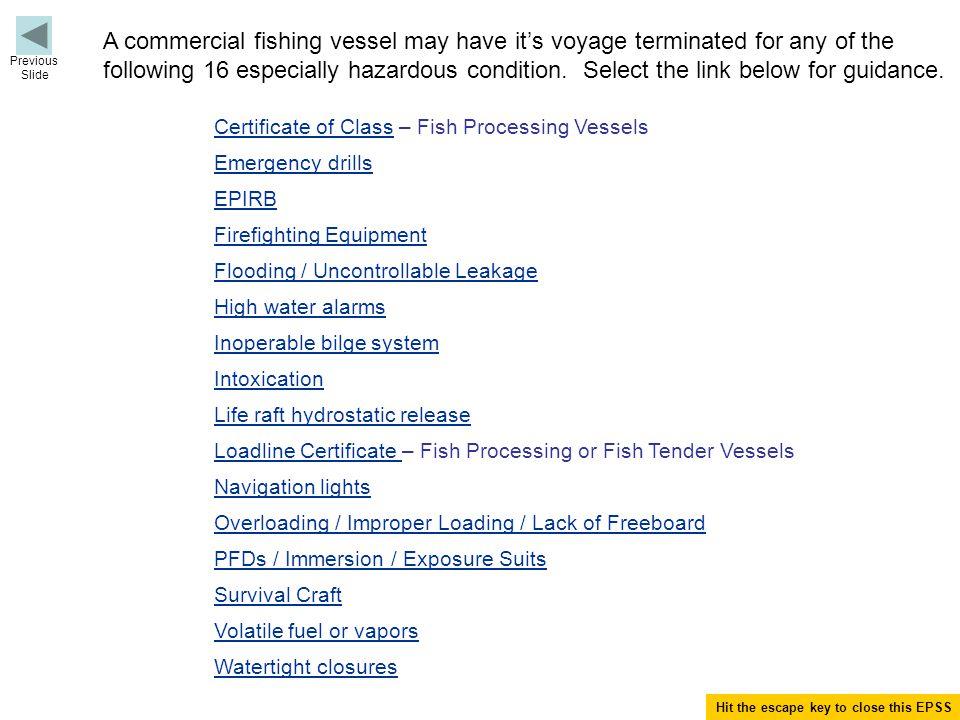 Load Line Fish Processing Vessel.Is vessel a Fish Tender Vessel.