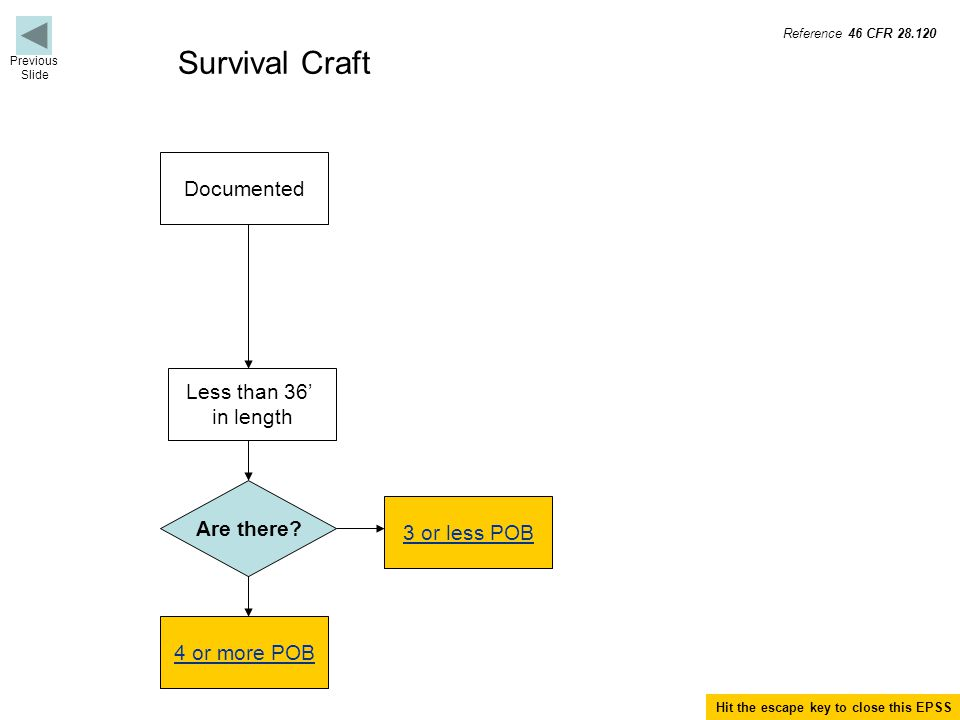 Termination for Survival Craft Terminate if not a life raft with coastal pack.
