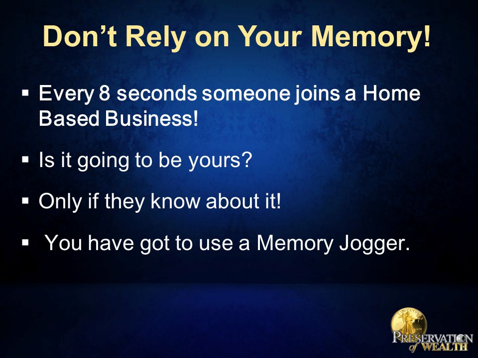 Prospect Memory Jogger.