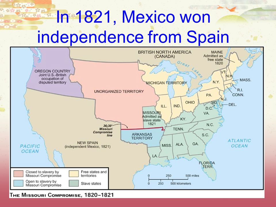 In 1821, Mexico won independence from Spain