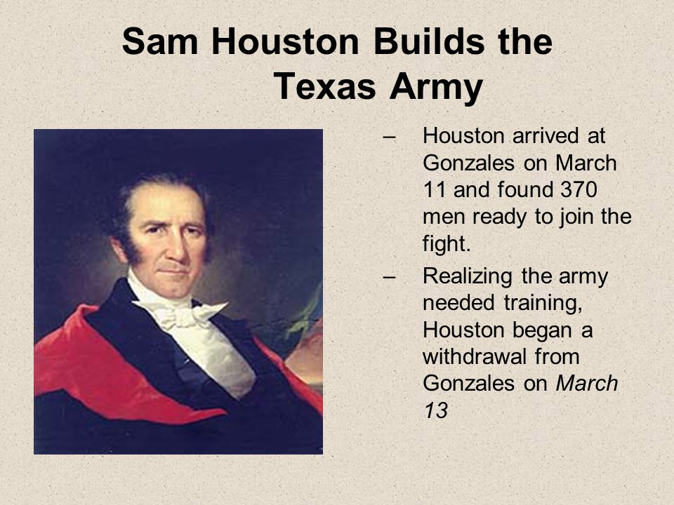 Deaf Smith Fluent in Spanish, Smith infiltrates camps in disguise as a Mexican He too sends information on Santa Anna's march route and men's condition to General Houston