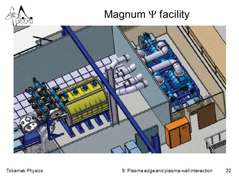 Tokamak Physics32 Magnum  facility 9: Plasma edge and plasma-wall interaction