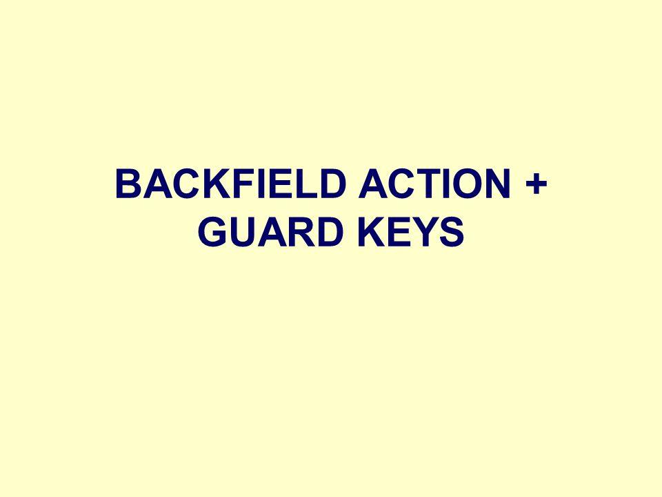 BACKFIELD ACTION + GUARD KEYS