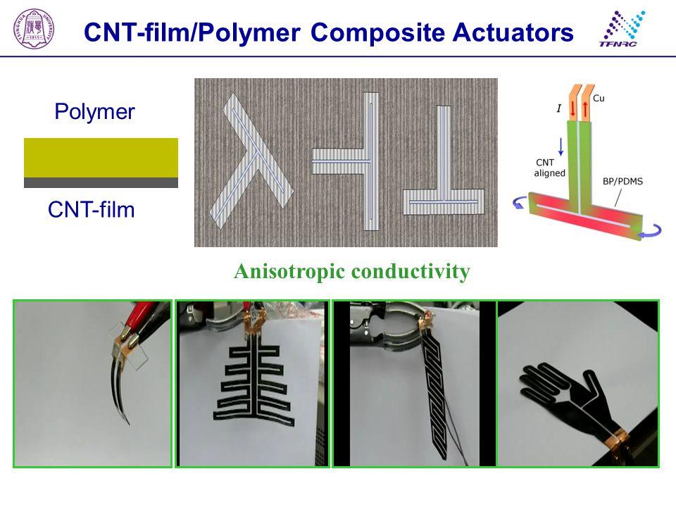 CNT-film Polymer CNT-film/Polymer Composite Actuators Anisotropic conductivity