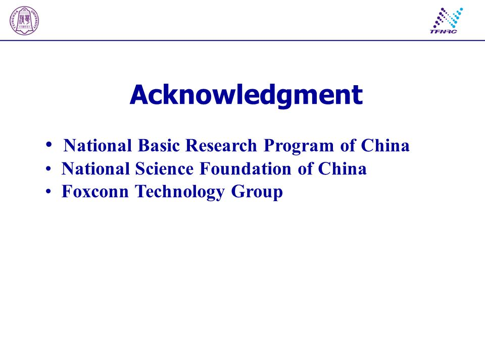 National Basic Research Program of China National Science Foundation of China Foxconn Technology Group Acknowledgment
