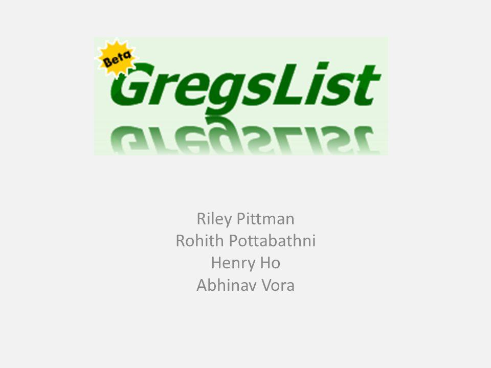 Riley Pittman Rohith Pottabathni Henry Ho Abhinav Vora