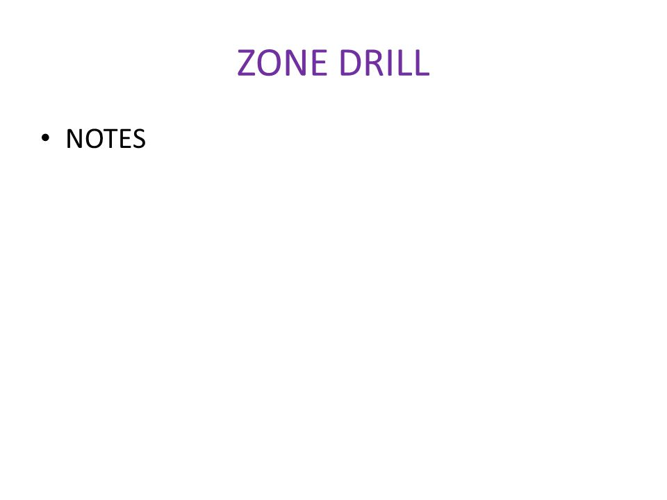 ZONE DRILL NOTES